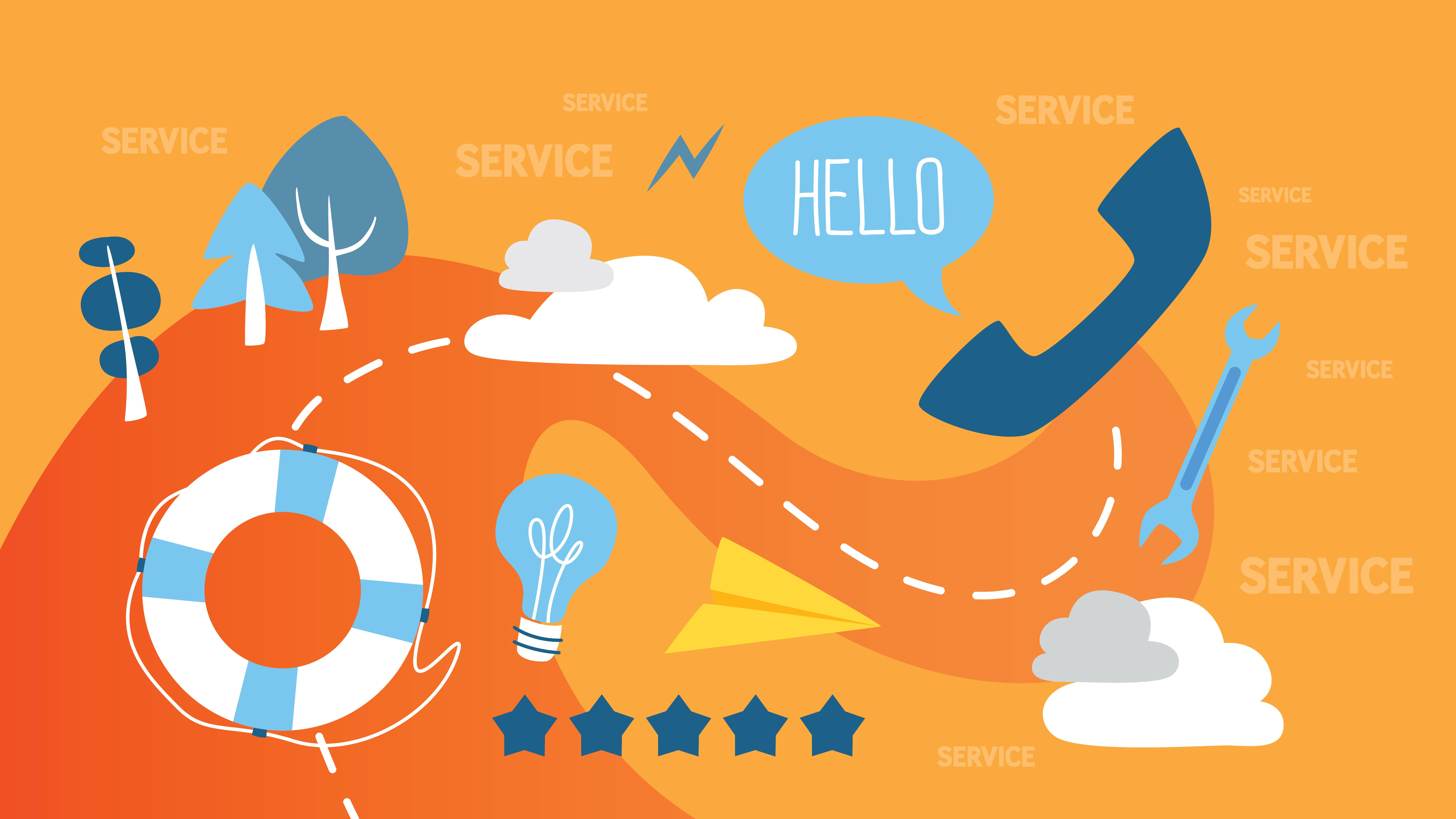 Customer service abstract illustration-1