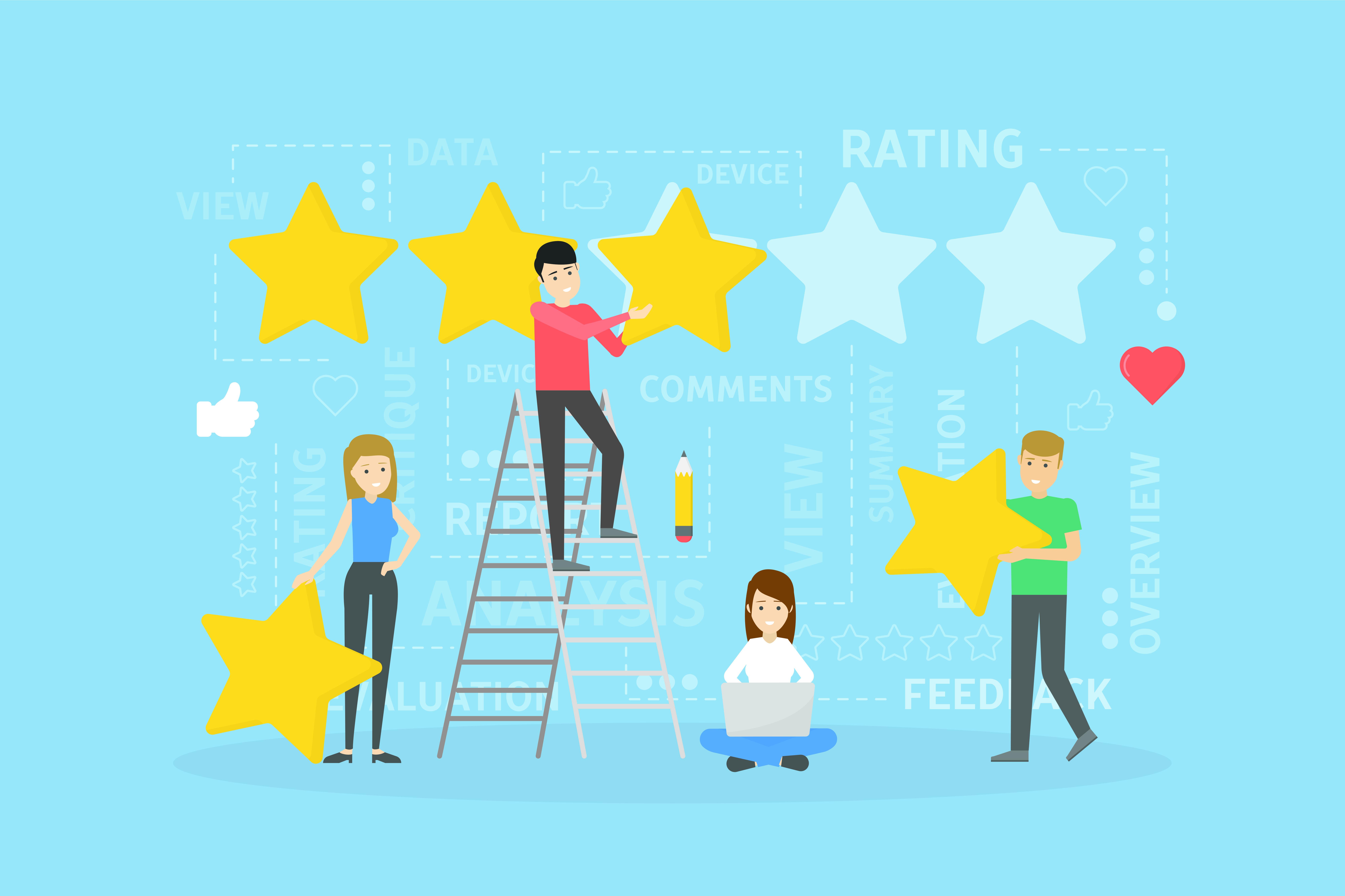 Rating concept illustration